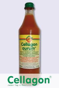 In einer Flasche Cellagon aurum sind unter anderem folgende ...